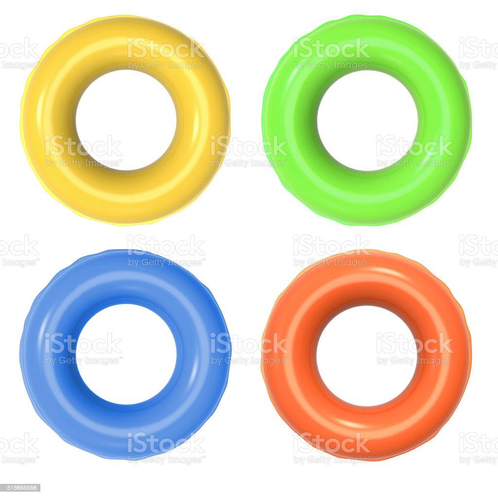 Coloré anneaux gonflables - Photo