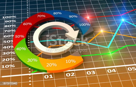 531581605 istock photo Colorful infographic chart of business-related elements 187372040