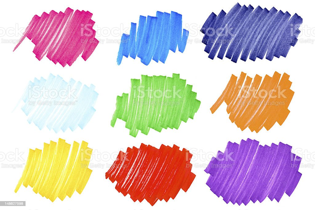 Colorful ink blots-very large-set2 royalty-free stock photo