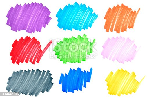 istock Colorful ink doodles 114447106