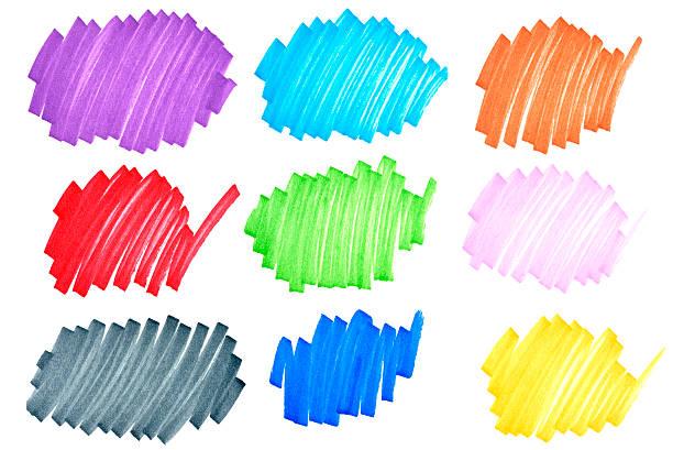 bunte tinte kritzeleien - scribble stock-fotos und bilder