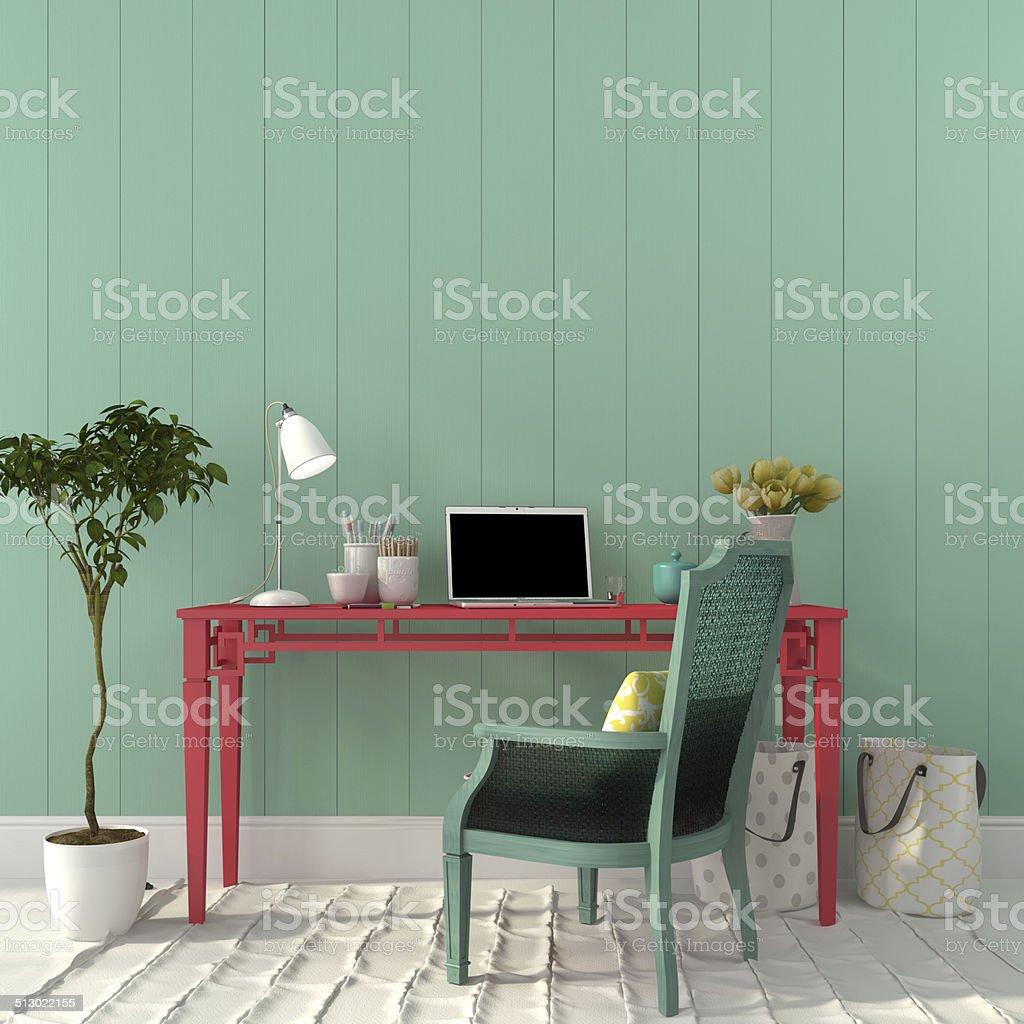 Colorido interior de oficina - foto de stock