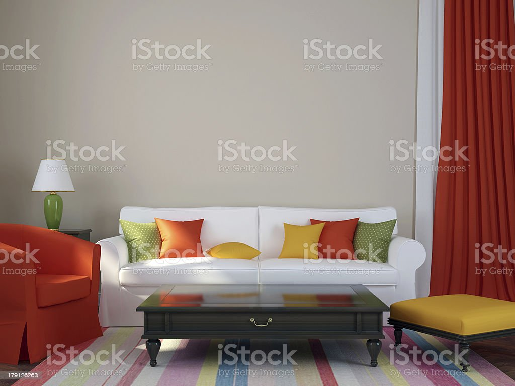 Colorful interior royalty-free stock photo