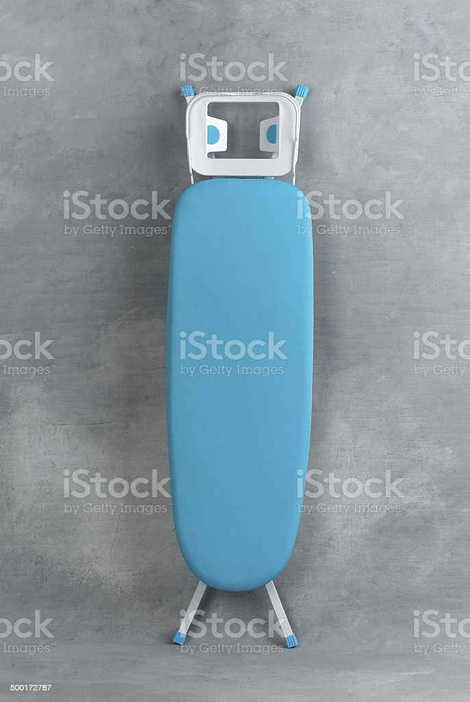 Colorful ironing board isolated stock photo
