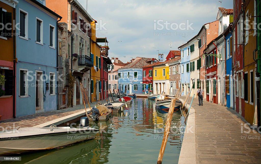 Colorful italian houses stock photo