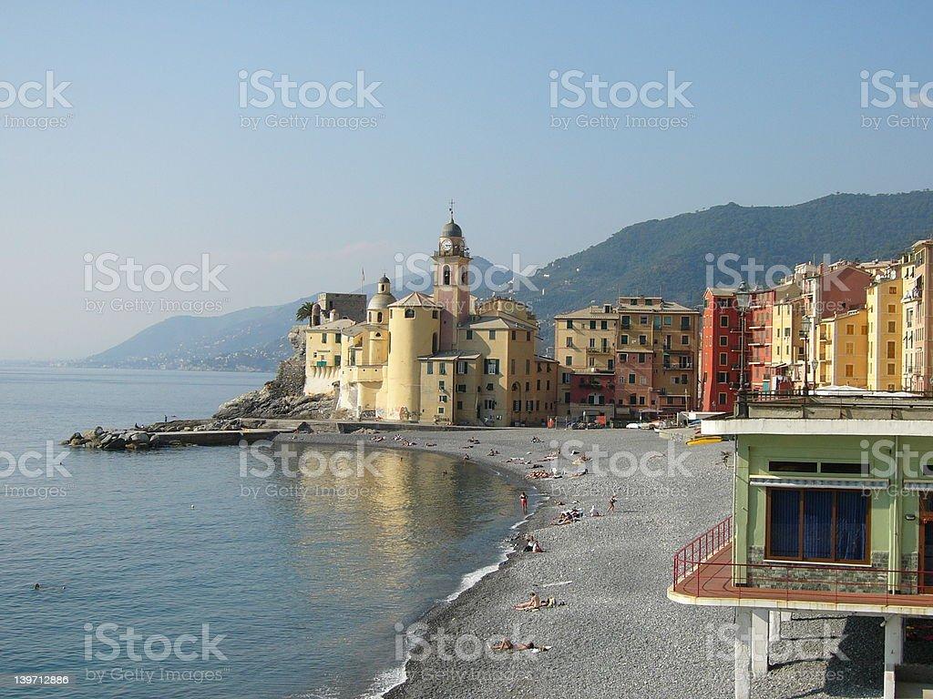 Colorful italian village royalty-free stock photo