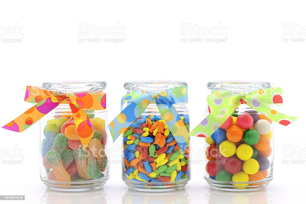 colorful jars of candies royalty-free stock photo