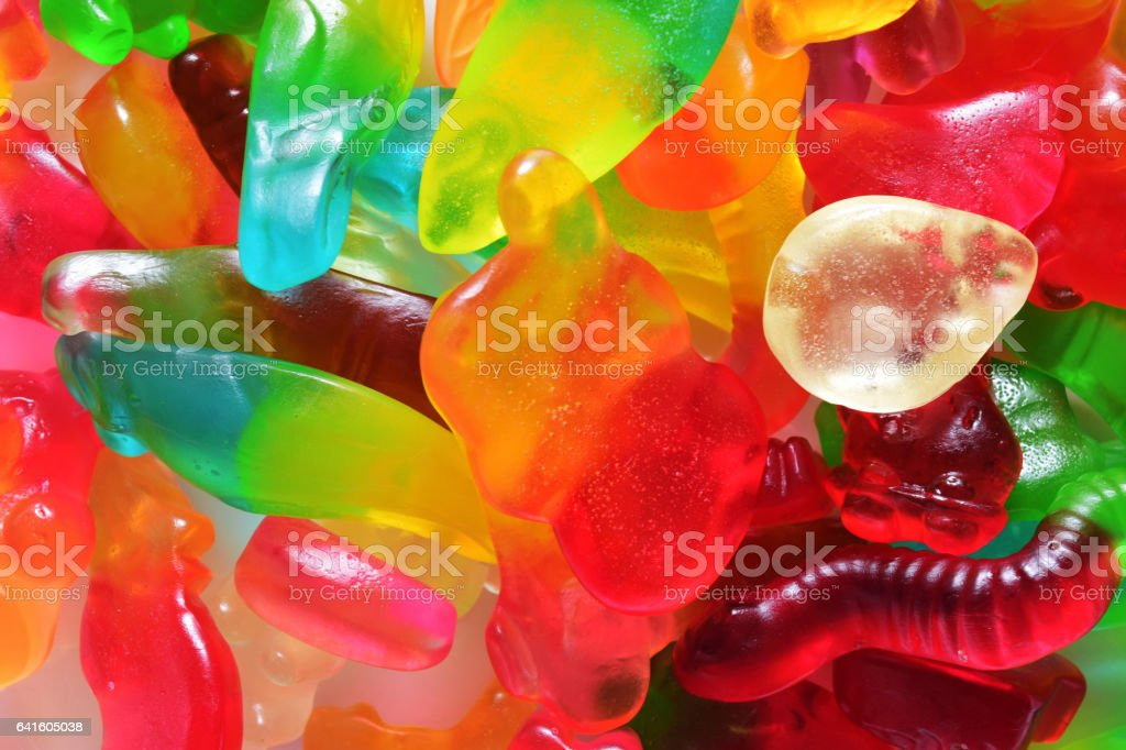 colorful jelly gum stock photo