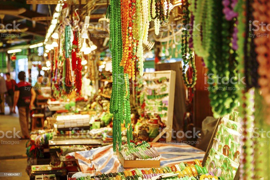 colorful jewelry in HongKong, China royalty-free stock photo