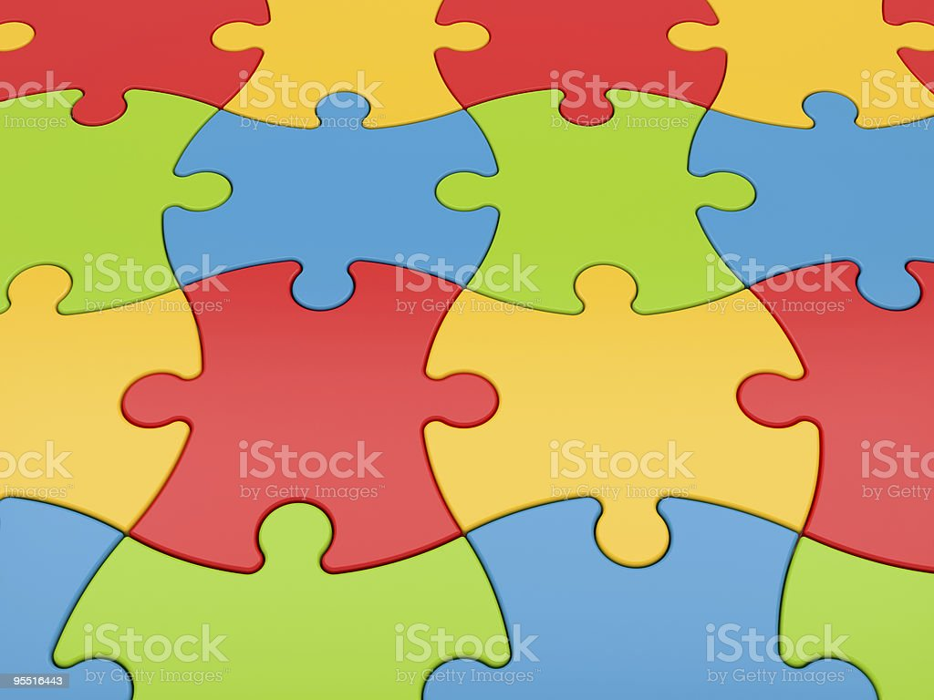 Colorful jigsaw puzzle background royalty-free stock photo