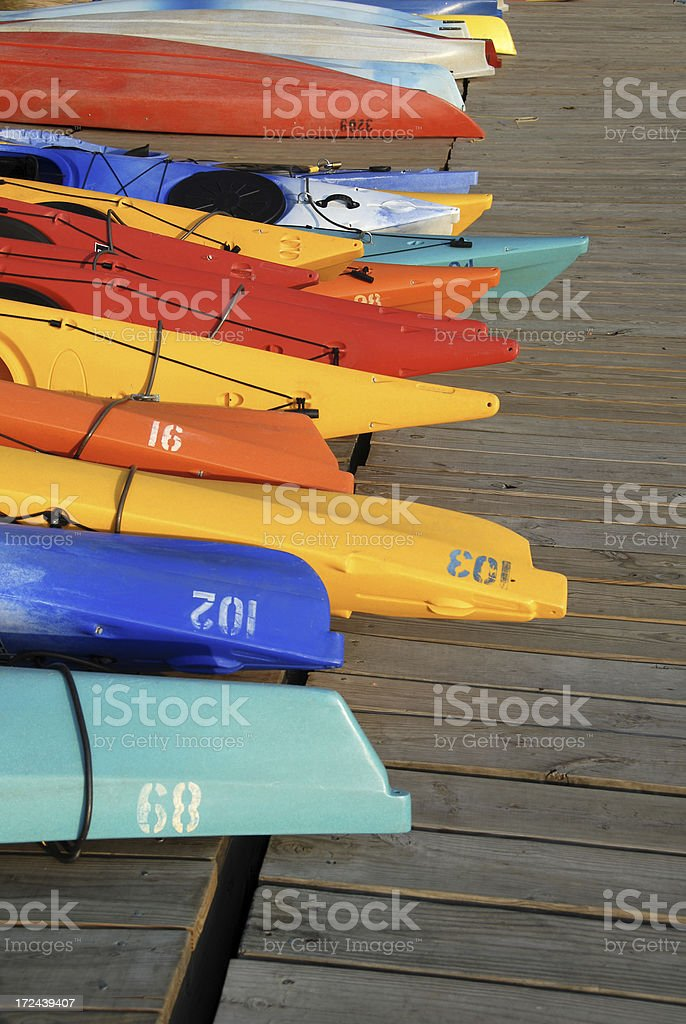 Colorful Kayaks and Boats 2 stock photo
