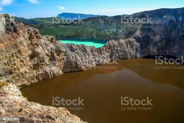 Photo of Colorful Kelimutu crater lakes