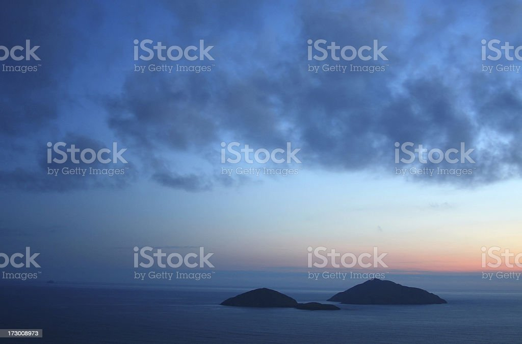 Colorful Kerry Coast at dawn (Ireland) royalty-free stock photo