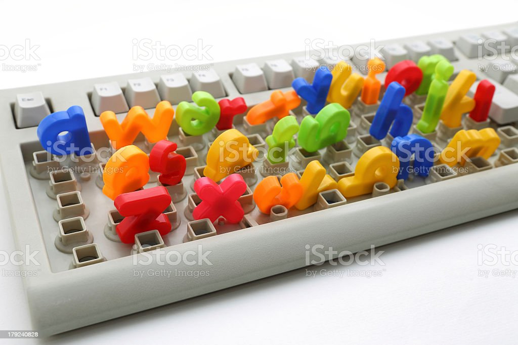 Colorful Keyboard royalty-free stock photo