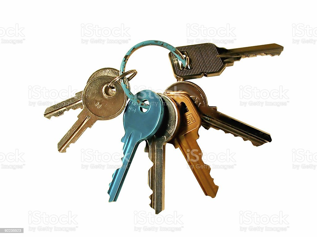 colorful keys on a ring royalty-free stock photo