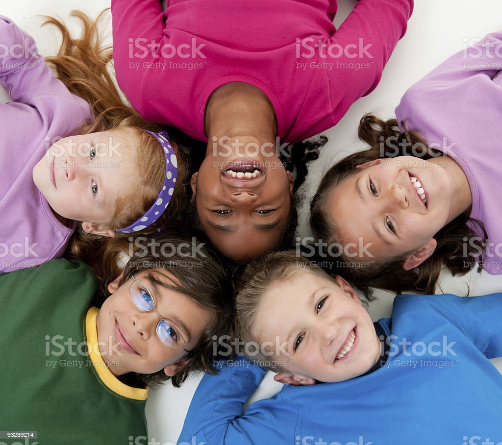 Colorful Kids royalty-free stock photo