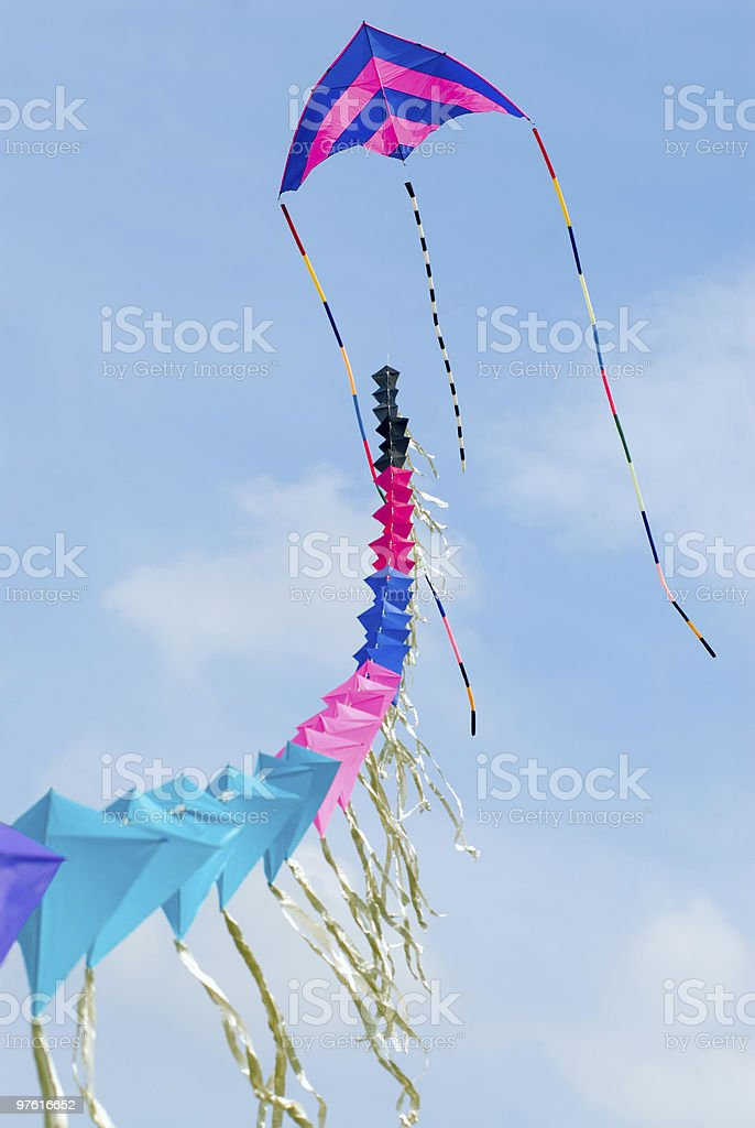 Colorful Kite at Blue Sky royalty-free stock photo