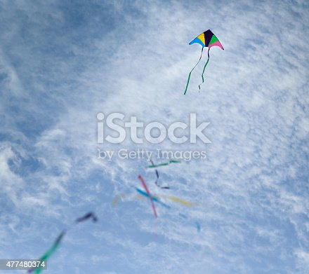 CHA-AM, THAILAND -  March 12, 2017: International Kite Festival on the Cha-am beach with variety of colorful kites and have many tourists interesting to join the festival at Phetchaburi province, Thailand.