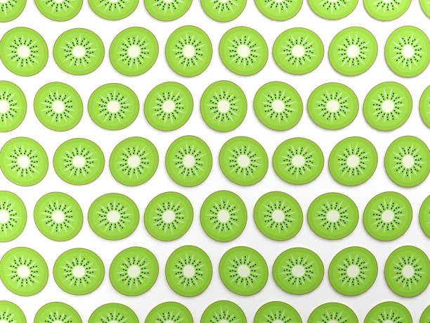 contexte alimentaire kiwi coloré - design plat photos et images de collection