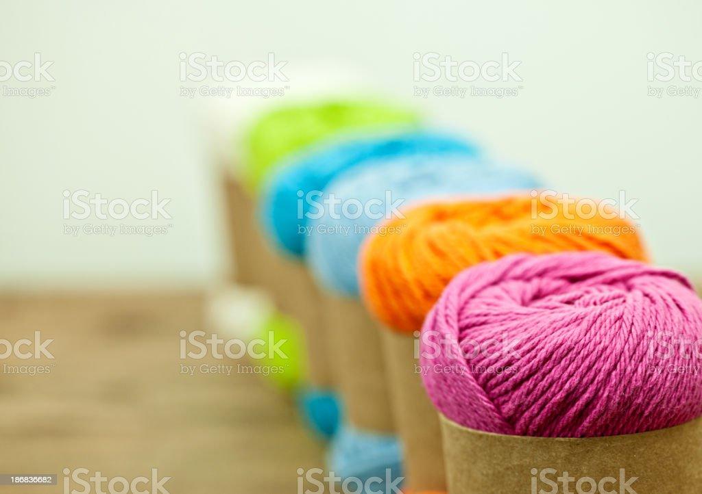 Colorful Knitting Yarn royalty-free stock photo