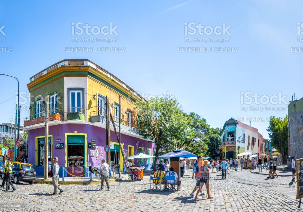 Colorful La Boca area - Buenos Aires, Argentina stock photo