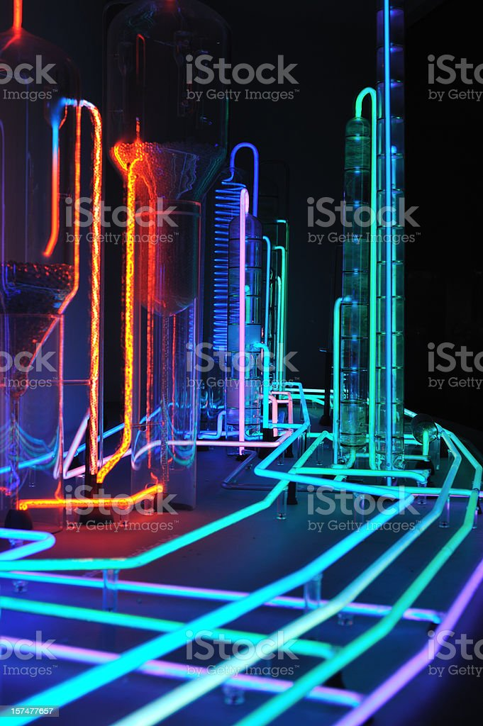 Colorful lab instruments royalty-free stock photo