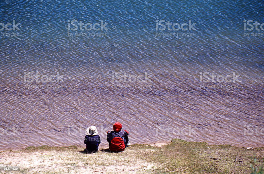 colorful lake royalty-free stock photo