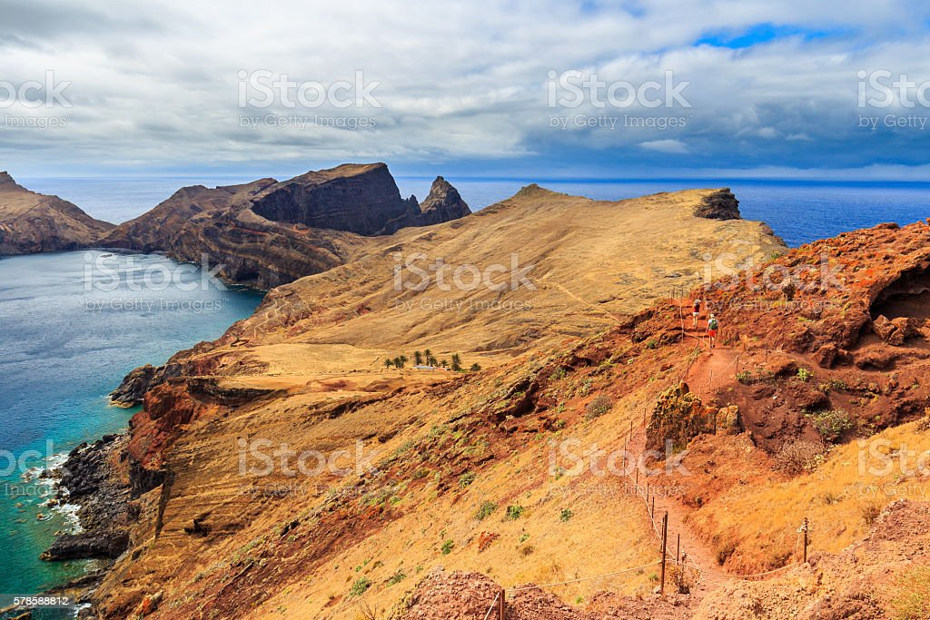 Colorful landscape at Ponta do Sao Lourenco, Madeira, Portugal stock photo