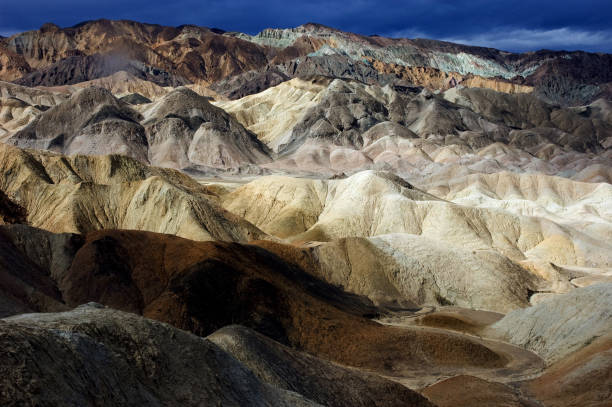 Colorful Landscape of 20 Mule Canyon, Death Valley stock photo