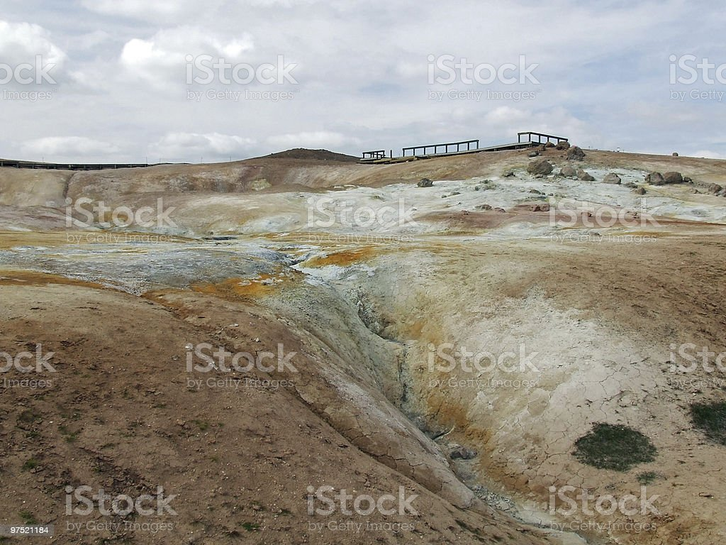 Colorful Landscape of Sulfur royalty-free stock photo