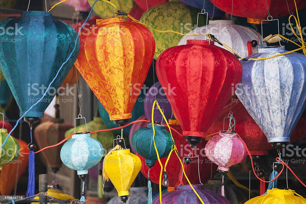 Colorful lanterns stock photo
