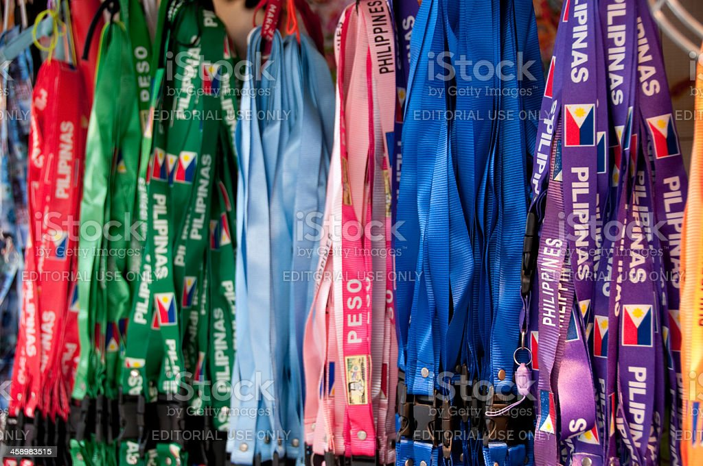 Colorful Lanyards at Pike Place Market royalty-free stock photo