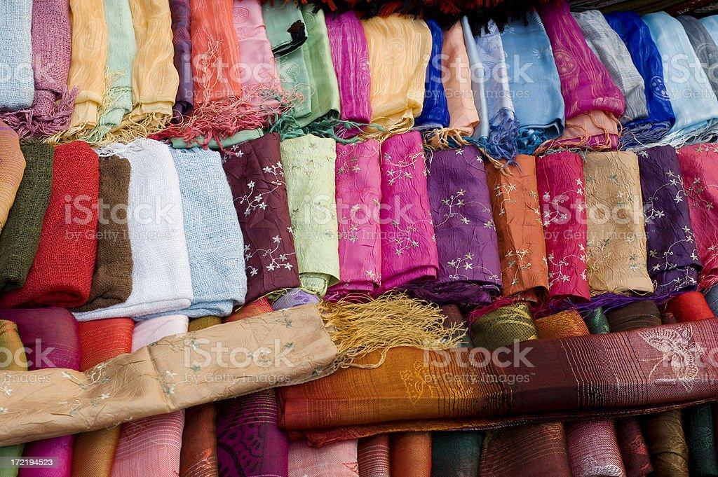 Colorful Laotian Textiles royalty-free stock photo