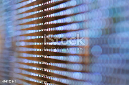 istock Colorful LED (light emitting diodes) display panel with bokeh effect. 476152144
