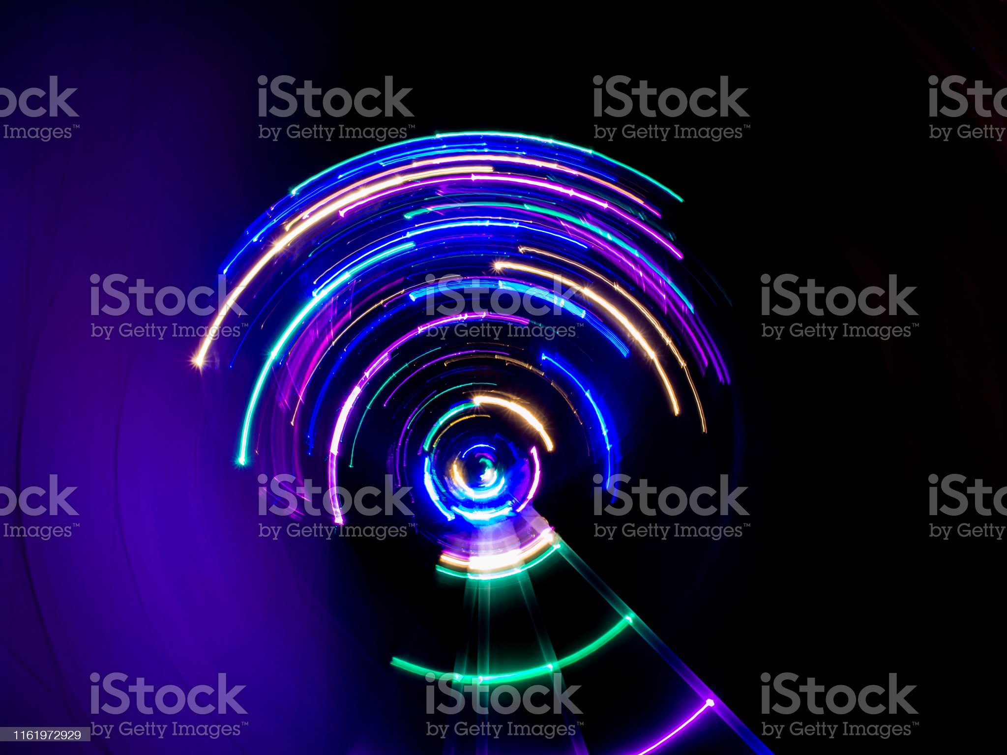 Spinning light trail colorful led lights