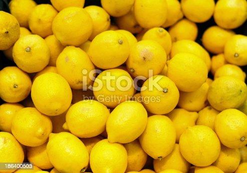 Colorful Lemons In Market