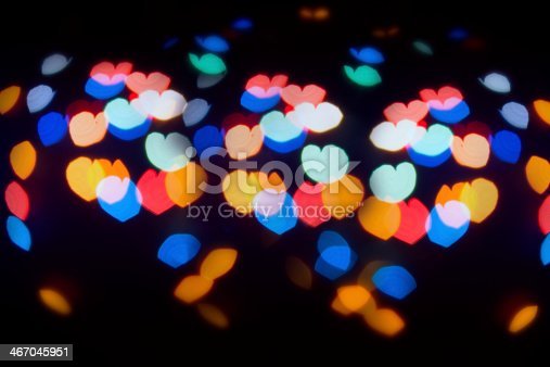 908708148 istock photo Colorful lens flare in the shape of heart 467045951