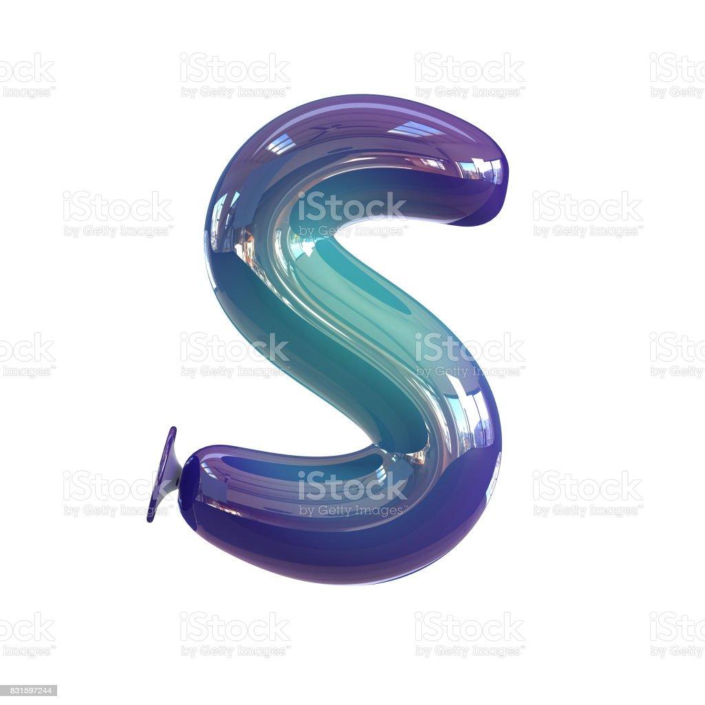 Bunte Buchstaben S. Ballon Schriftart. – Foto