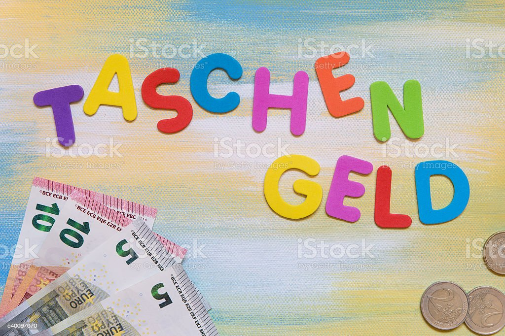 Colorful Letters And Euro Currency German Word Stock Photo 540097670