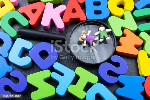 istock Colorful Letters made of wood 1037550532