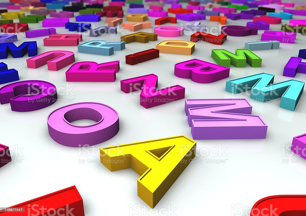Colorful Letters Magnet stock photo