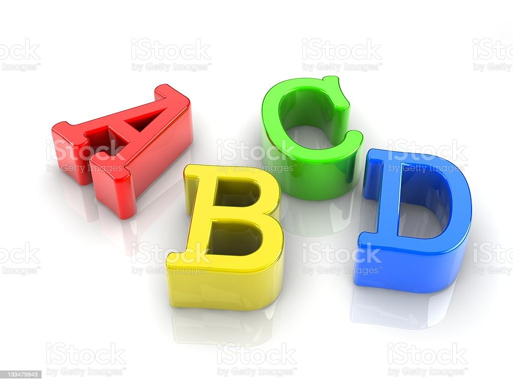 colorful letters royalty-free stock photo