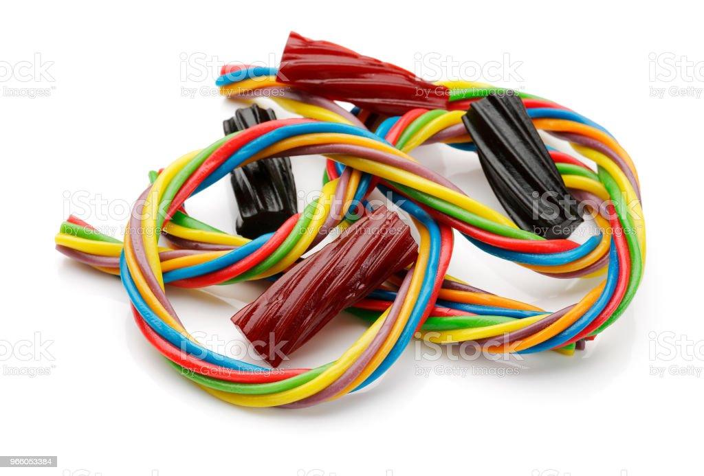 Kleurrijke zoethout - Royalty-free Beschrijvende kleur Stockfoto