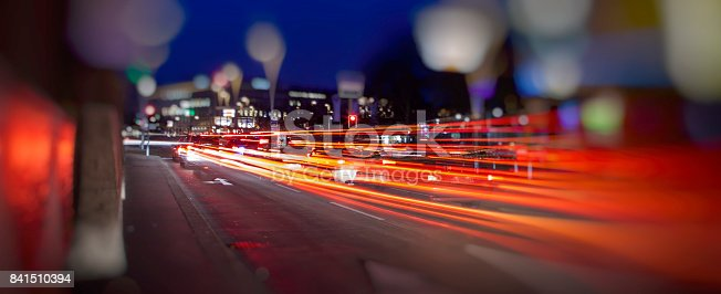 istock colorful light trace from night traffic in the city 841510394