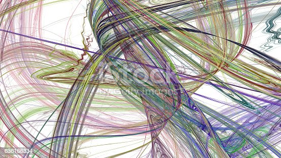 istock Colorful lines abstract background 636166334
