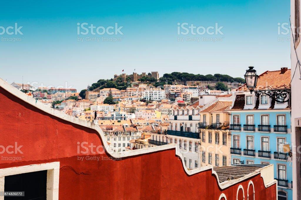 Colorful Lisbon stock photo