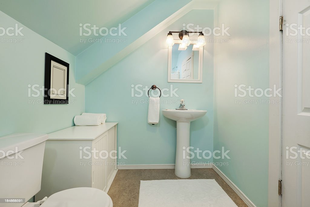 Colorful Little Bathroom royalty-free stock photo