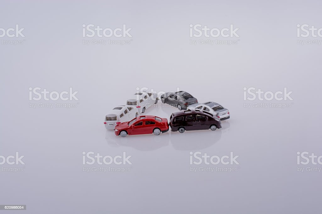 Colorful little toy cars foto royalty-free