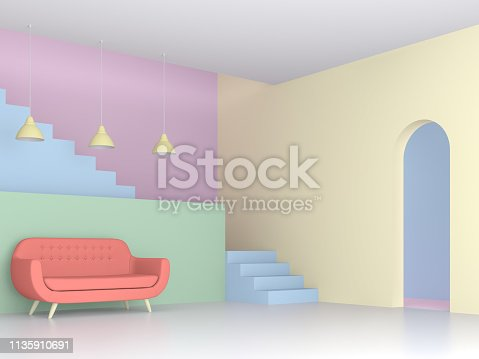 istock colorful living room with pastel concept 3d render 1135910691