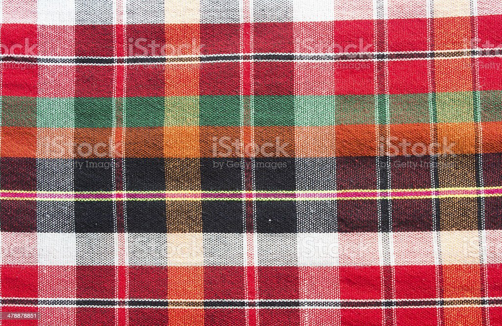 Colorful loincloth fabric background stock photo